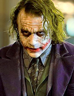 Heath Leder as The Joker in  'The Dark Knight'