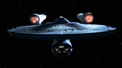 New slick Starship Enterprise