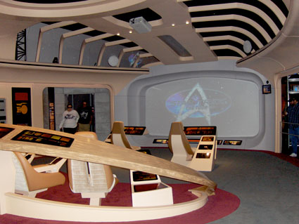 Starship Enterprise Next Generation bridge on tour
