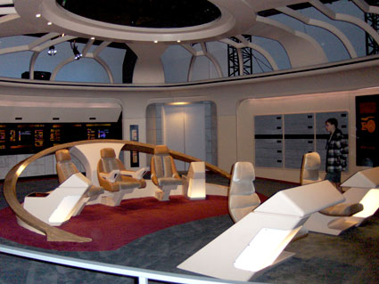 Forward view: Starship Enterprise Next Generation bridge on tour