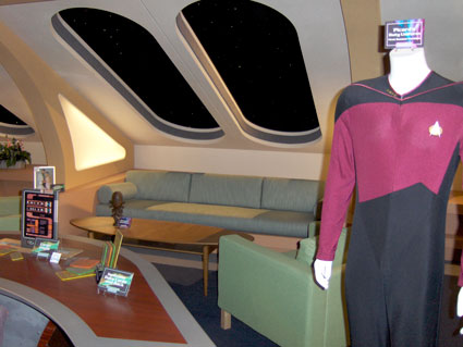 Star Trek Next Generation uniforms on tour